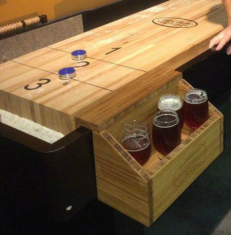 Renegade Shuffleboard Drink Holder  #woodworking #game