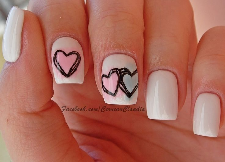 Nailpolis Museum of Nail Art | Colorful Hearts Nails by Claudia