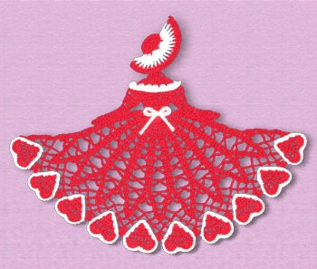 Cute little doily for Valentines.  Not that I need it anytime soon, but it IS sorta cute...