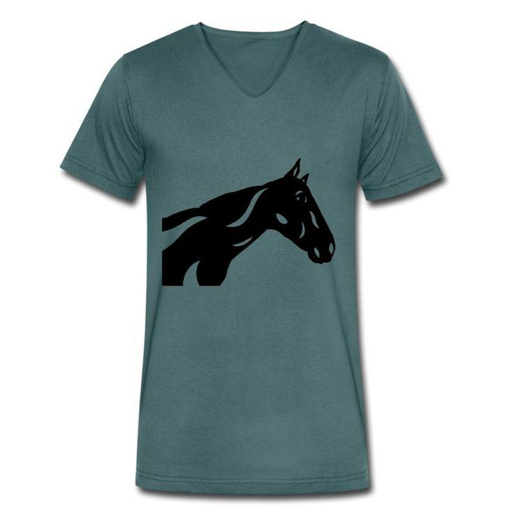 Herren T-Shirt mit V-Ausschnitt | Abstraktes Pferd Crimson von Manuel Süess | Mehr: https://shop.spreadshirt.de/PferdeDesigns/herren+t-shirt+mit+v-ausschnitt+abstraktes+pferd+crimson-A109604254