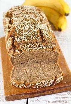 Chlebek bananowy (bez glutenu, jajek, cukru i laktozy) - vegan banana bread (gluten, sugar and lactose free)