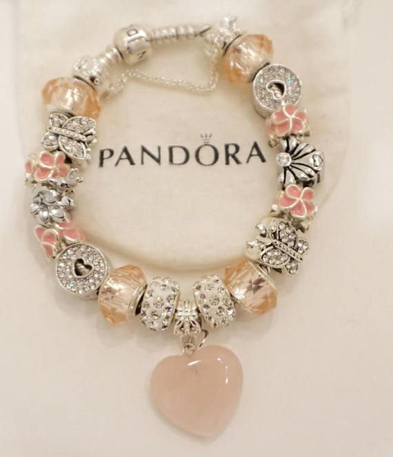 Gorgeous Pink Stone Heart Angel Authentic Jared Pandora Authentic
