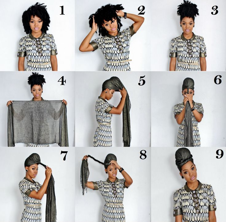 How to tie a headscarf Pictorial