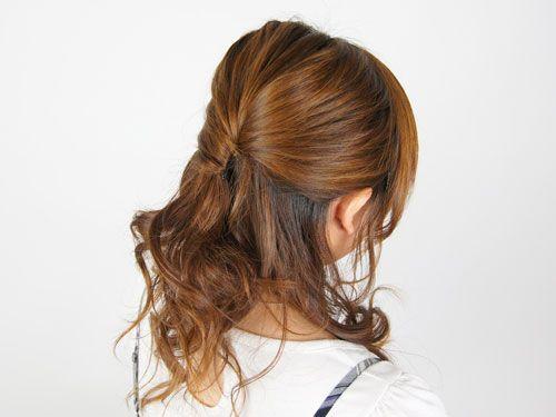すっきりとしたヘアアレンジ