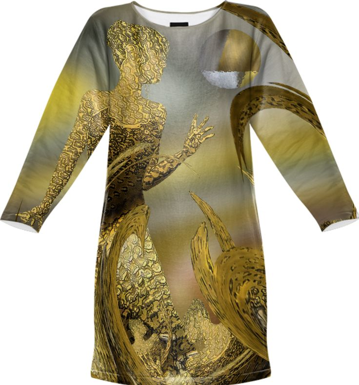 Sweatshirt dress-Girl found her gold, fantacy art by Annabellerockz from Print All Over Me