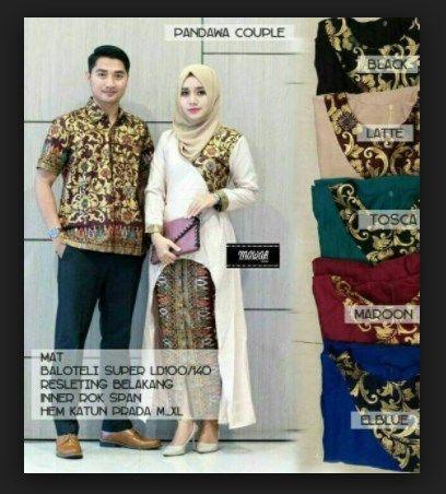 Desain Setelan Model Baju Batik Couple Sarimbit Pandawa  0c75ba9fc1