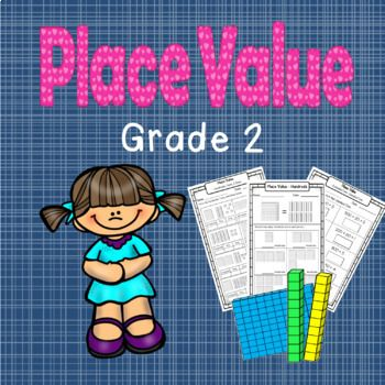 This pack contains 46 worksheets/activities to compliment the teaching of Place Value in Grade 2. The following areas are covered in this pack: - Hundreds, tens and ones. - Numbers represented by place-value equipment. - Expanded and simple form. - Finding the value within a 3-digit number. - Comparing 3-digit numbers. - Recognizing written numbers - Adding 2-digit numbers together. - Skip-counting by 2's, 5's, 10's., and 100's