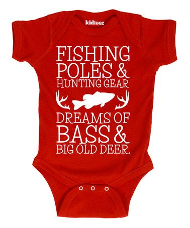 Another great find on #zulily! Red 'Dreams of Bass' Bodysuit - Infant #zulilyfinds