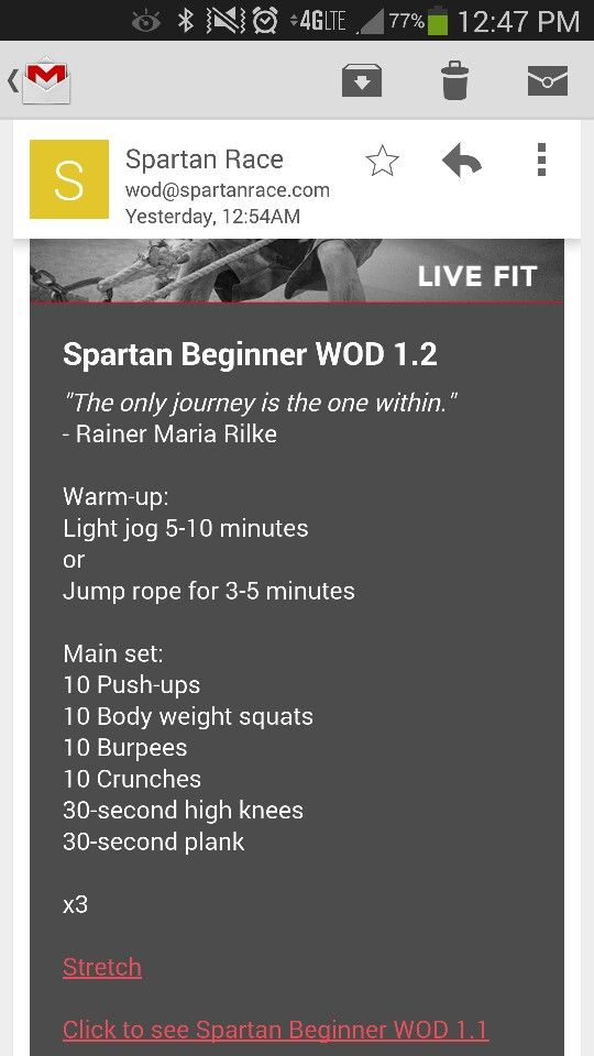 Spartan Race Beginner Workout Of The Day Crossfit Run