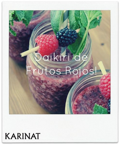 Viernes de Cocktail con Frutos Rojos Karinat! Cocktail Fridays with Berries Karinat!