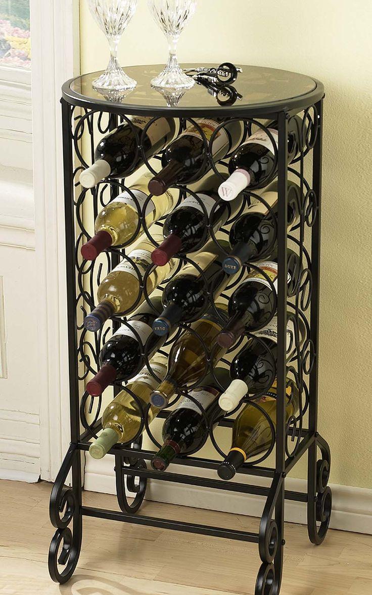 Holly Martin Monterey Glass Top Wine Storage Table Ubuyfurniture
