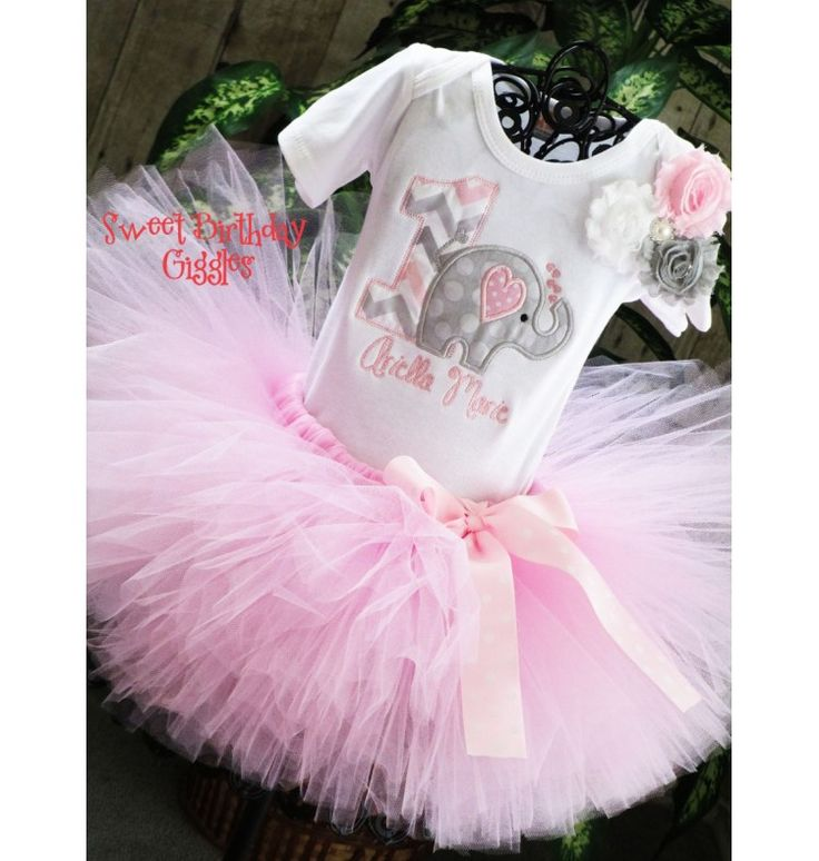 #Elephant 1st Birthday Tutu Outfit, #Jungle Birthday Party