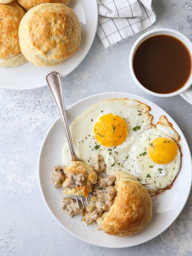 buttermilk gravy biscuits stuffed with creamy sausage gravy