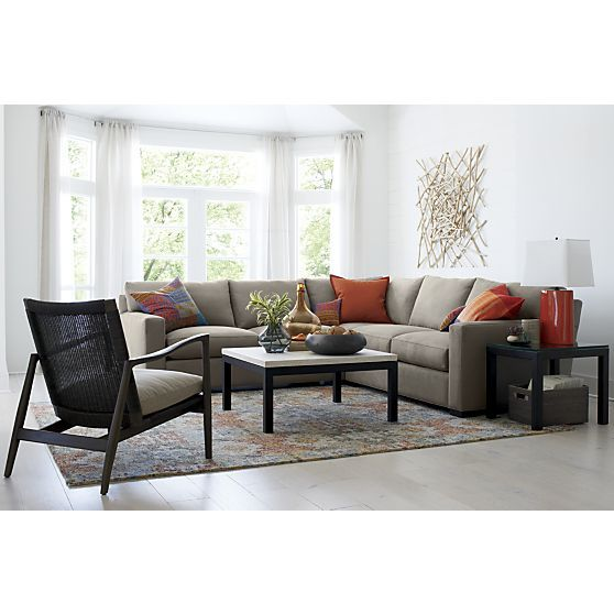 Axis II 3-Piece Sectional Sofa : Sectional sofa, Crates and Barrels