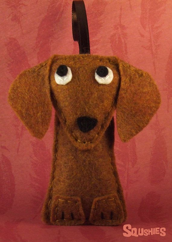 Christmas Ornament, Felt Dog Ornament - Mitzi the Dachshund