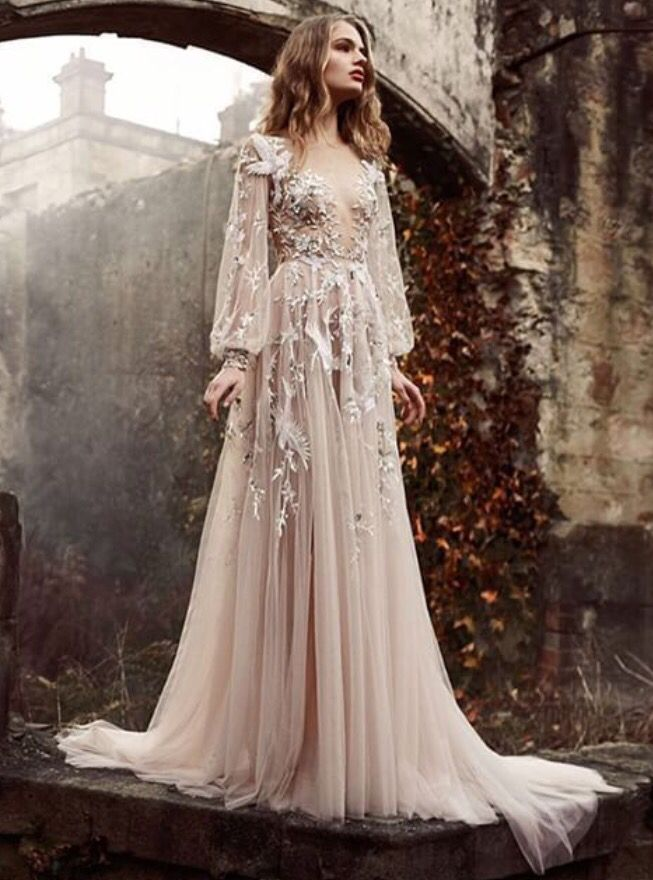 """#paolo_sebastian's Spring/Summer 2015-6 #couture collection entitled """"The Nightingale"""". Inspired by Hans Christian Anderson, the delicate #sheer gowns and painstakingly intricate embroidered details are perfect for a daring yet fanciful look."""