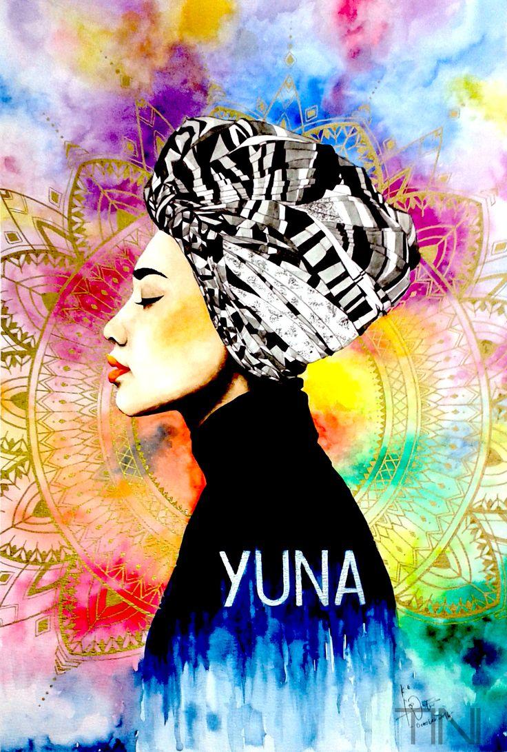 watercolor portrait of Yunalis Zarai