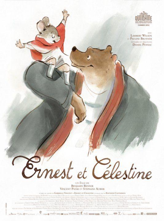 Ernest & Celestine DVD E ERN 80 min K-3 Célestine, une petite souris portée sur le dessin, doute de la méchanceté des ours. Ernest, musicien ambulant vivant très pauvrement dans une cabane au fond des bois, accepte pour sa part les idées reçues au sujet des rongeurs. Mais sa rencontre avec Célestine, un jour où, son estomac criant famine, elle l'incite à dévaliser la cave d'un confiseur, le fait changer d'avis.