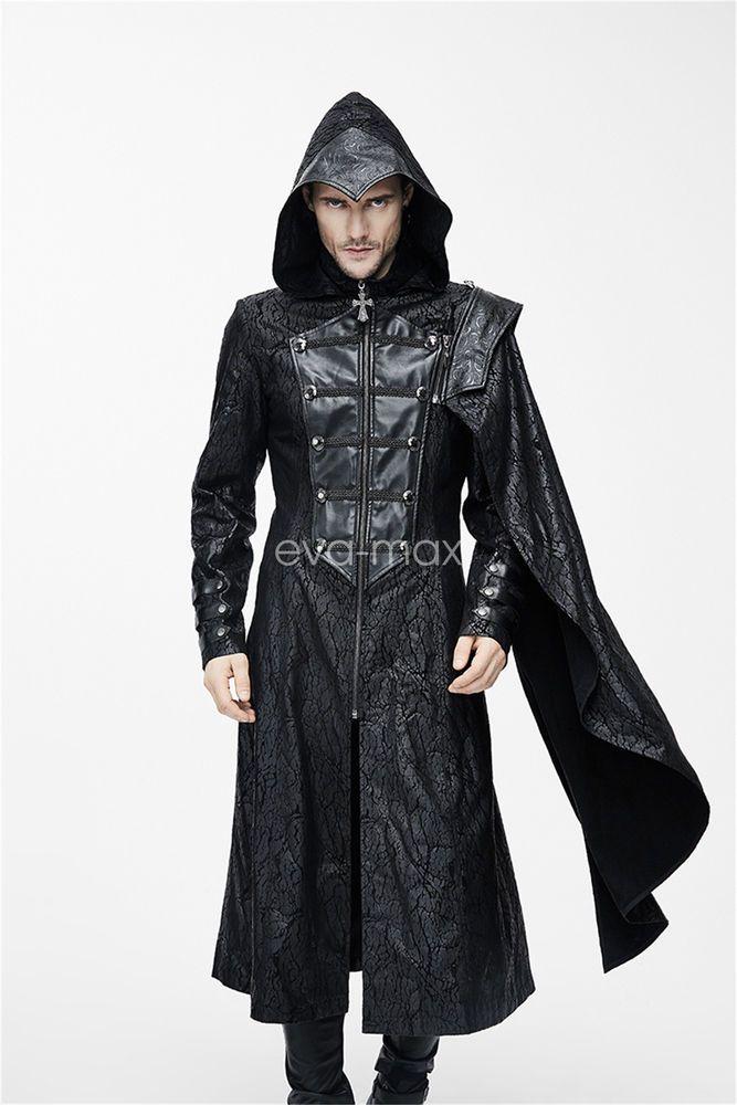 Devil Fashion Men Gothic Jacket Coat Cloak Steampunk Cosplay Motorcycle Military