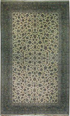 Signed 12x20 Genuine Persian Kashan Rug Iran Design Pattern Pile