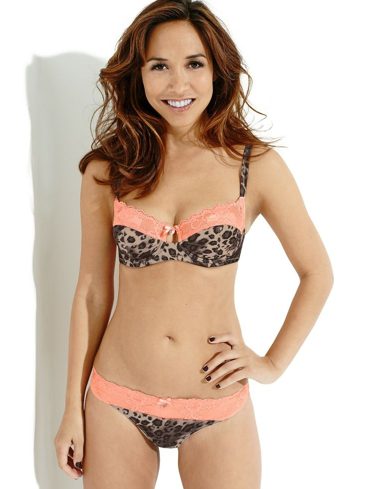 Myleene Klass Printed Satin And Lace Bra It