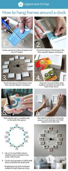 How to Create the Pinterest Picture Frame Clock - Creating a Pinterest worthy picture frame clock is very simple if you know the secret technique. Follow these simple steps to find out how. #ULClocks