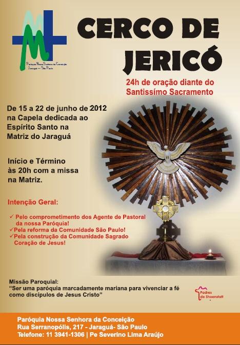 Participe do Cerco de Jericó de Nossa Paróquia! (@matrizjaragua)