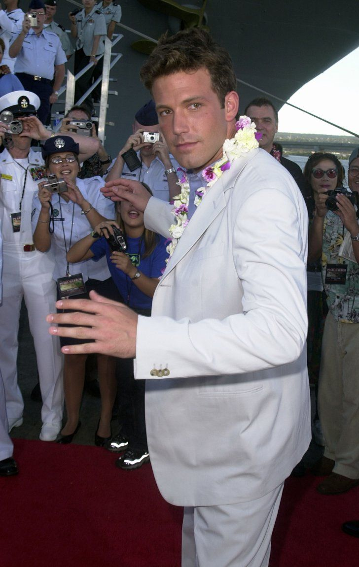 Pin for Later: Set Sail With Over 50 Celebrity Boating Pictures!  Ben Affleck walked on the USS John C. Stennis in Honolulu, Hawaii, during the May 2001 premiere of Pearl Harbor.