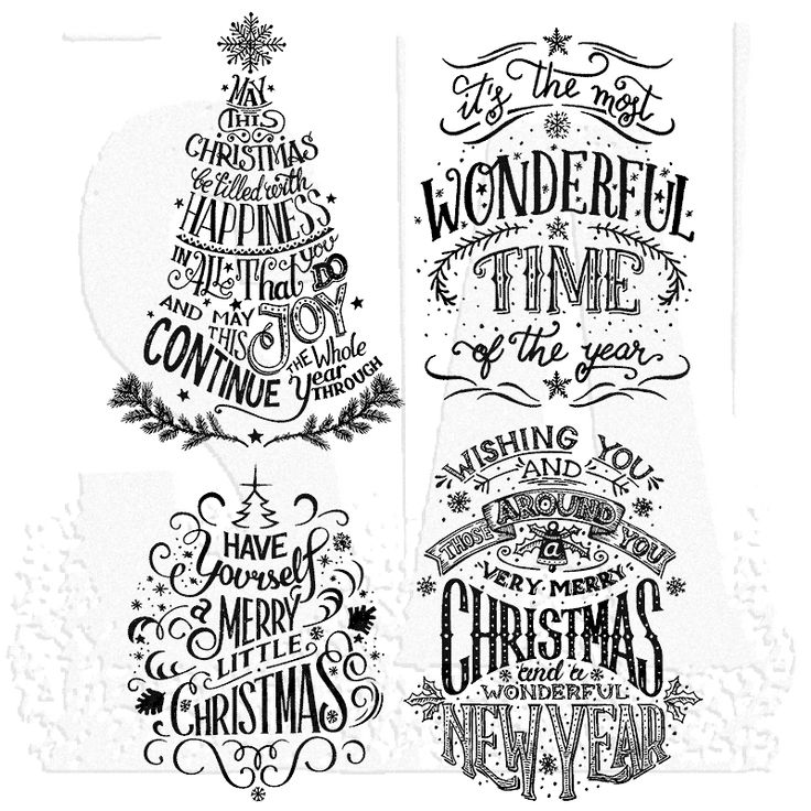 "Tim Holtz Cling Mount Stamps: Doodle Greetings #2.'It's the most wonderful time of the year' measures approximately 2 7/8"" x 4"".Stamps come on a 3-hole punched sheet for easy storage."