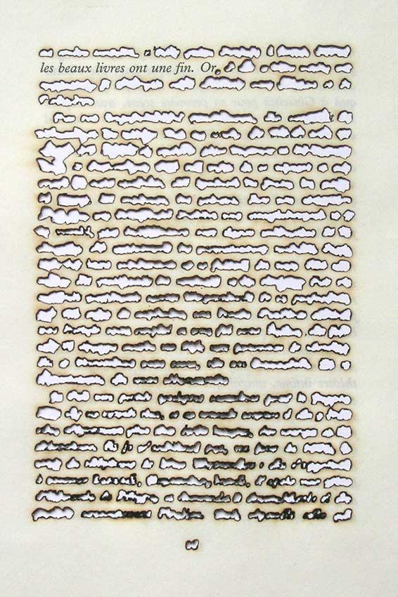"defacedbook: "" Remo Albert Alig Fine Books Have a Purpose, Gold 2005 Sunlight on Paper (14cm x 20.5cm) """