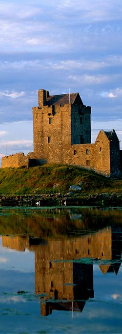 Dunguire Castle, Ireland ~ Dunguaire Castle is a 16th-century tower house on the southeastern shore of Galway Bay in County Galway