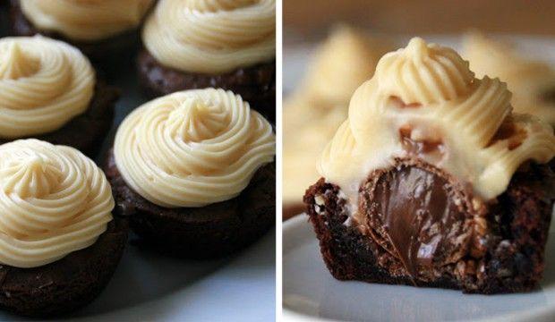 Lahodné Brownies Ferrero Rocher