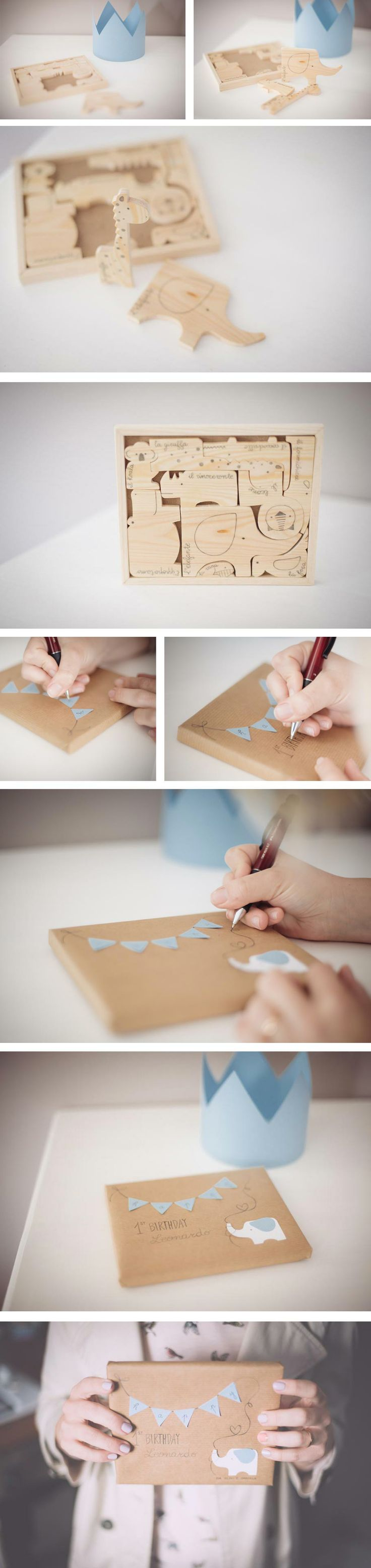 AnD photography handmade -  gift ideas for your little prince! wooden jungle friends and a paper crown <3