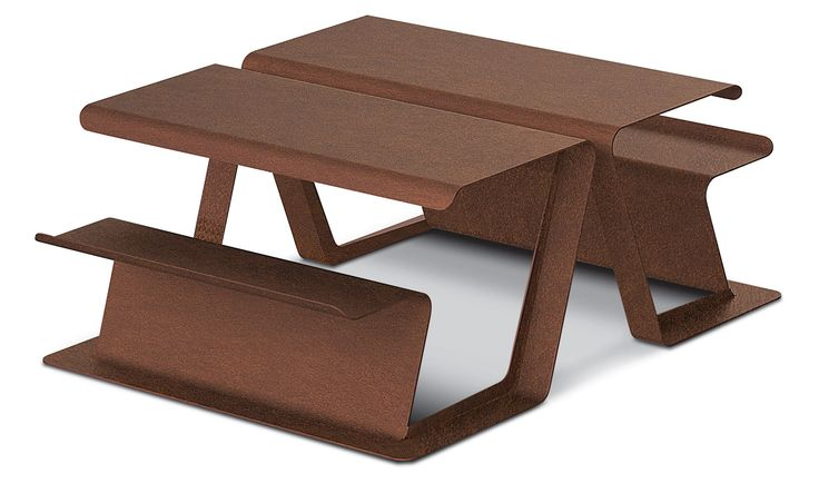 Picnic table / for public areas MERENDA 1 by Alessandro Lenarda METALCO
