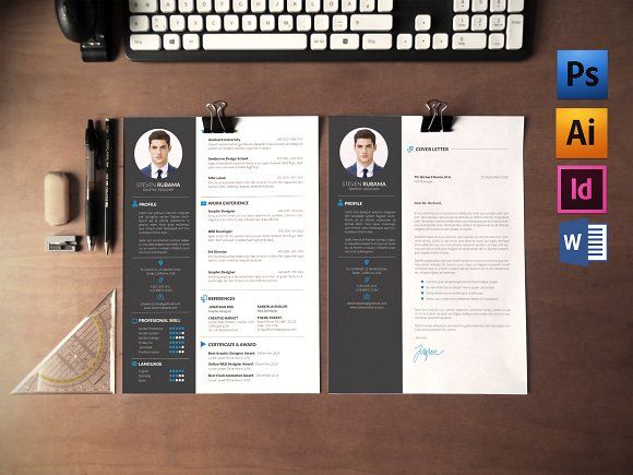 Resume Template with Cover Letter! Instant Download! You can change the colors if you like!