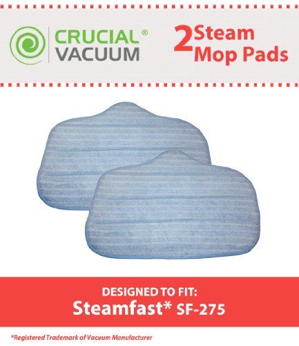 2-pack of #Washable #Microfiber Steam Cleaner Pads Fits SteamMax SF-275/SF-370. Also fits McCulloch MC-1275 Heavy-Duty Steam Cleaner. Replaces Steamfast Steam Mop...