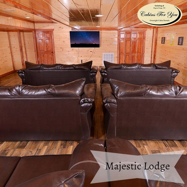 Majestic Lodge Is The Large Group Cabin Youu0027ve Been Looking For! A
