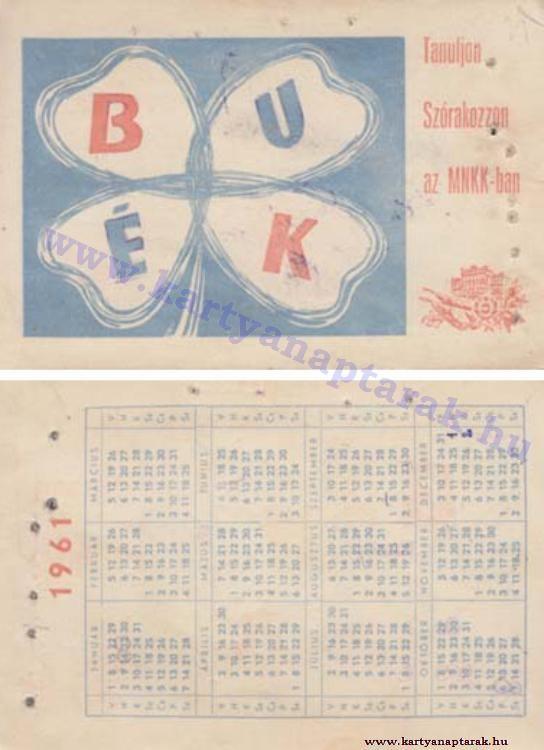 1961 - 1961_0079 - Régi magyar kártyanaptárak