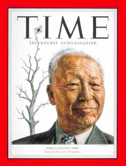 Syngman Rhee, First president of South Korea-Time Magazine, Mar. 9, 1953