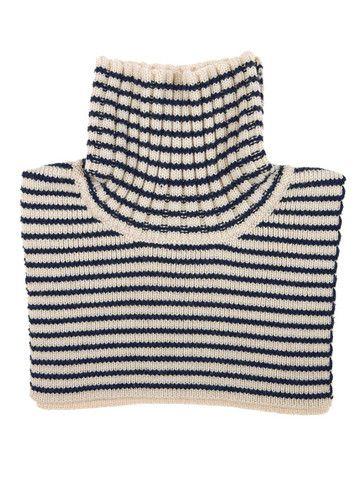 FUB - Neck warmer Ecru/Navy 100% merino wool