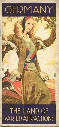 """Travel brochure """"Germany - The Land of Varied Attractions,"""" 1931.  Published by the Reichsbahnzentrale für den Deutschen Reiseverkher, Berlin.  Printed by W. Brüxenstein, Berlin."""