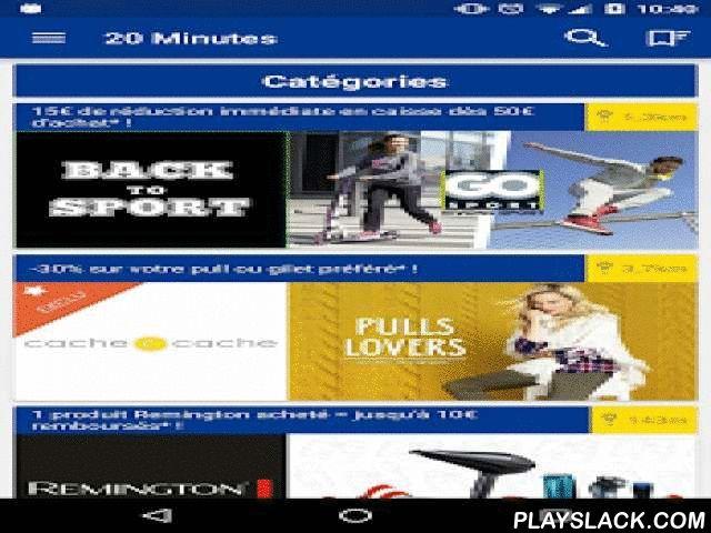 20 Minutes Bons Plans  Android App - playslack.com ,  20Minutes lance son application « 20Minutes Bons plans » pour vous proposer tous les Bons Plans shopping des magasins autour de vous.** ALERTES BONS PLANSPlacez des alertes sur vos enseignes préférées et soyez prévenu à chaque nouvelle promotion!** CARTE DES BONS PLANSVisualisez d'un coup d'oeil tous les bons plans disponibles dans votre quartier!** ANNUAIRE DES COMMERCESRetrouvez en un instant toutes les informations sur vos commerces à…