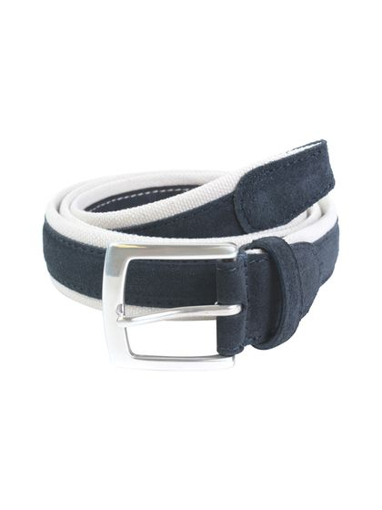 Canali Suede Combo Woven Belt