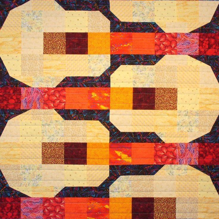 Soft Guitars Patchwork Quilt Block Pattern via Etsy