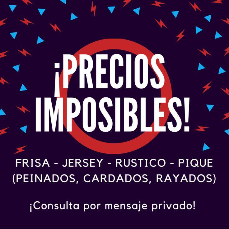 #PreciosImposibles consultá costos en efectivo y otros medios de pago por mensaje privado