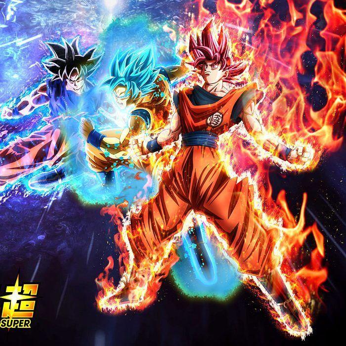 Super Saiyan God, Super Saiyan God Super Saiyan, and Ultra Instinct