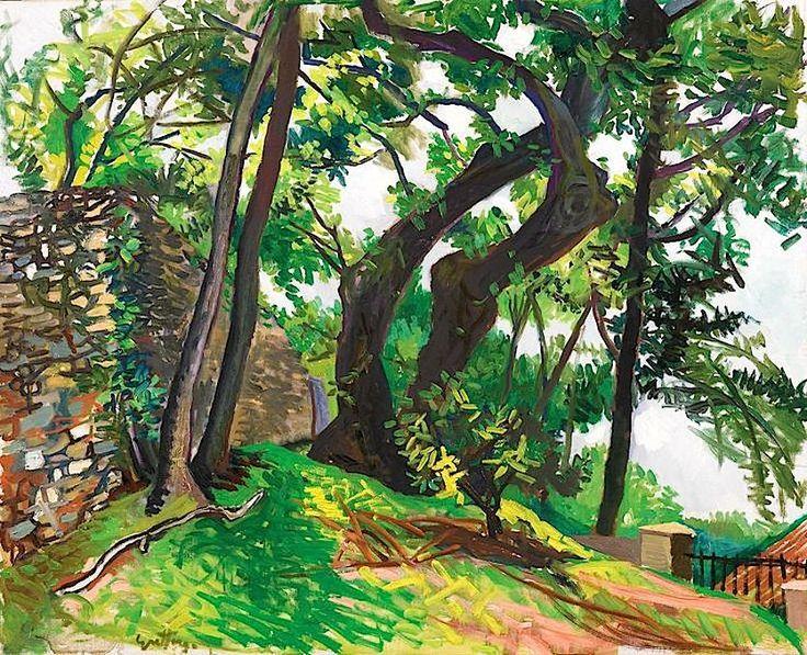 Renato Guttuso (Italian, 1912–1987), Alberi a Velate [Trees in Velate], 1962.
