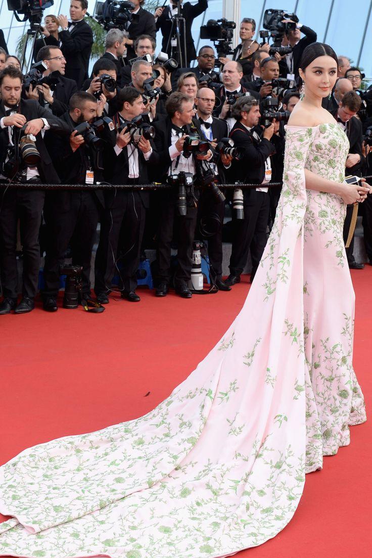Fan Bingbing in Ralph & Russo Couture #Cannes 2015 HarpersBAZAAR.com