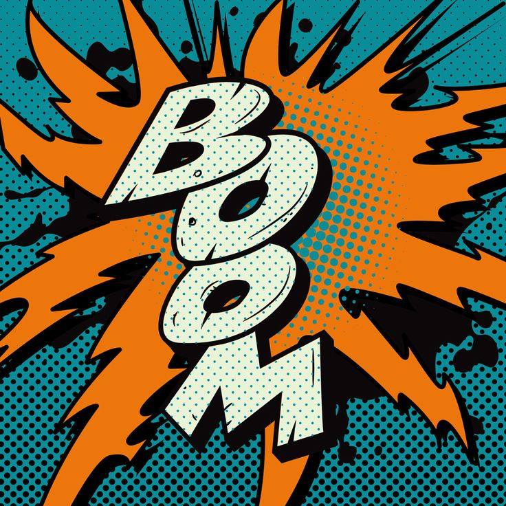 Vintage Comic Book Boom Explosion. Vector Power by VectorClash