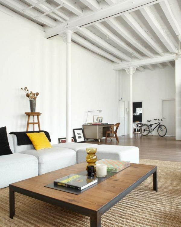 Gelbe Schwarze Kissen Wohnzimmer Design Idee Stil New York
